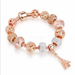 Rose Gold Eiffel Tower Paris pandora l bracelet